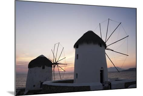 Traditional-Style Windmills on the Coast at Sunset-Sergio Pitamitz-Mounted Photographic Print