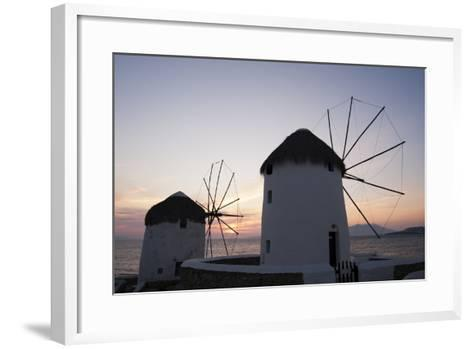 Traditional-Style Windmills on the Coast at Sunset-Sergio Pitamitz-Framed Art Print