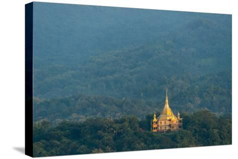 Wat Pa Phon Phao Temple on a Ridge Near Luang Pragang-Michael Melford-Stretched Canvas Print