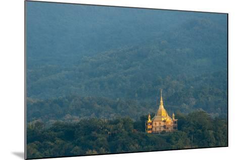 Wat Pa Phon Phao Temple on a Ridge Near Luang Pragang-Michael Melford-Mounted Photographic Print
