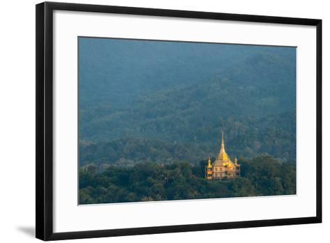 Wat Pa Phon Phao Temple on a Ridge Near Luang Pragang-Michael Melford-Framed Art Print