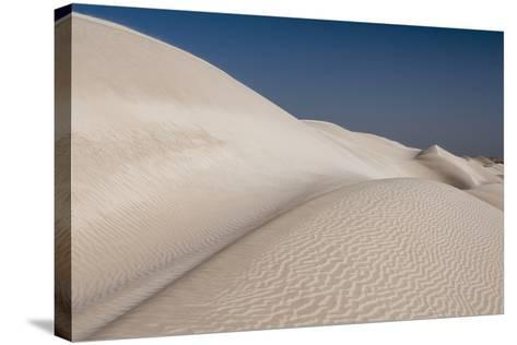 Rippled White Sand Dunes of the Khaluf Desert-Sergio Pitamitz-Stretched Canvas Print