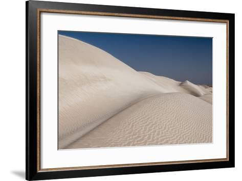 Rippled White Sand Dunes of the Khaluf Desert-Sergio Pitamitz-Framed Art Print