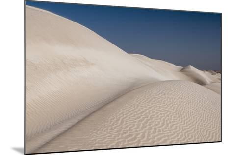 Rippled White Sand Dunes of the Khaluf Desert-Sergio Pitamitz-Mounted Photographic Print