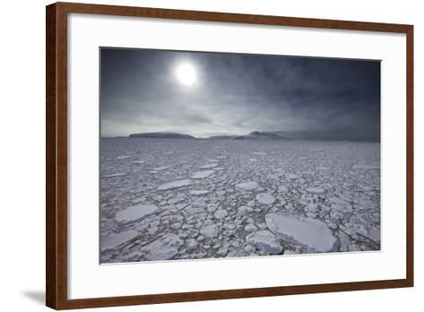 The Sun Shines over Ice Pack in the Grandidier Channel-Jim Richardson-Framed Art Print