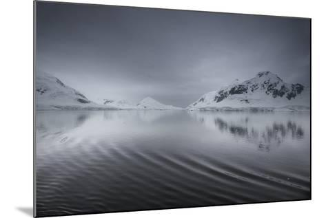 Icebergs and Mountains Reflected in a Rippled Surface of the Ocean-Jim Richardson-Mounted Photographic Print