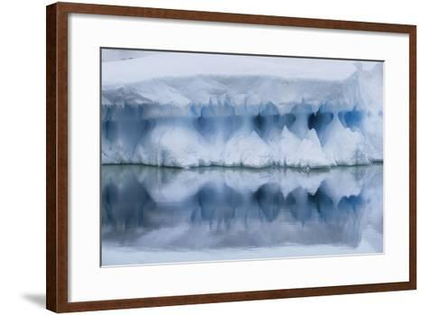 An Iceberg Reflects in the Surface of the Ocean-Jim Richardson-Framed Art Print