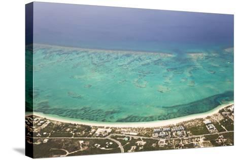 An Aerial View of Grace Bay and the Reef System of Providenciales Island-Mike Theiss-Stretched Canvas Print