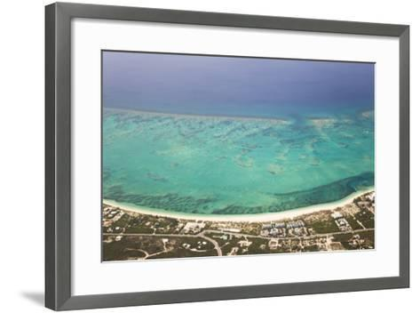 An Aerial View of Grace Bay and the Reef System of Providenciales Island-Mike Theiss-Framed Art Print