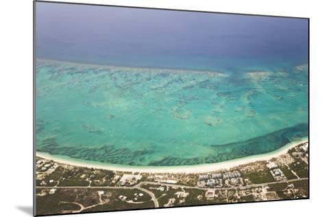 An Aerial View of Grace Bay and the Reef System of Providenciales Island-Mike Theiss-Mounted Photographic Print