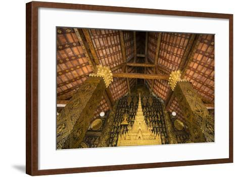 Detail of Roof and Supporting Column Inside Wat Xieng Thong Monastery-Michael Melford-Framed Art Print
