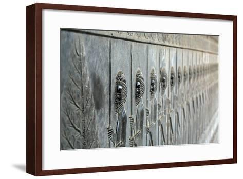 A Frieze Depicting the Persian Immortals, on the Eastern Stairs of Apadana Palace-Babak Tafreshi-Framed Art Print