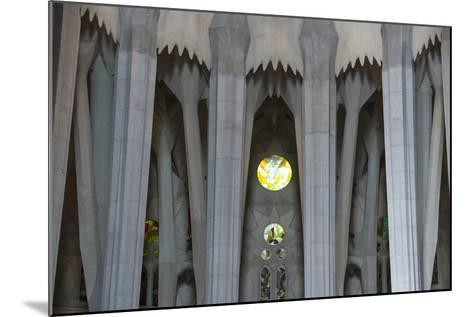 Interior View of Columns and Stain Glass Windows in Gaudi's La Sagrada Familia Catedral-Michael Melford-Mounted Photographic Print