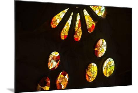 A Portion of a Rose Window at La Sagrada Familia Catedral-Michael Melford-Mounted Photographic Print