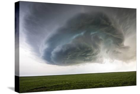 A Supercell Thunderstorm Rotates over Cropland-Jim Reed-Stretched Canvas Print