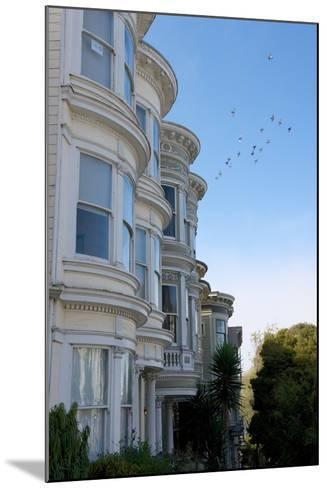 Colorful Victorian Homes in the Haight-Ashbury District of San Francisco, California-Krista Rossow-Mounted Photographic Print
