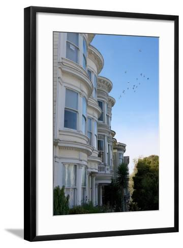 Colorful Victorian Homes in the Haight-Ashbury District of San Francisco, California-Krista Rossow-Framed Art Print