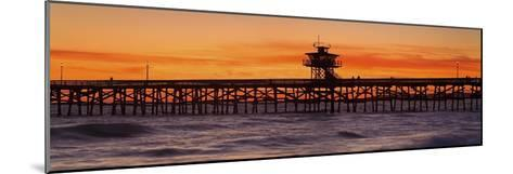 San Clemente Municipal Pier in Sunset-Design Pics Inc-Mounted Photographic Print