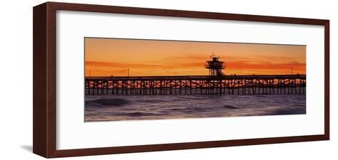 San Clemente Municipal Pier in Sunset-Design Pics Inc-Framed Art Print