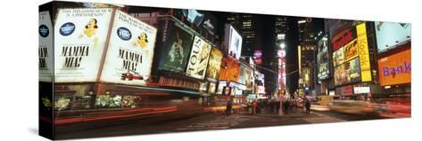 Times Square in Midtown Manhattan Illuminated at Night-Design Pics Inc-Stretched Canvas Print