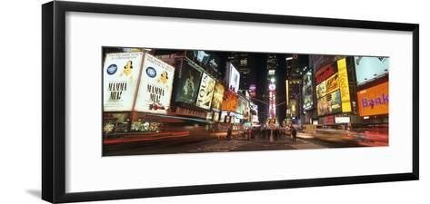 Times Square in Midtown Manhattan Illuminated at Night-Design Pics Inc-Framed Art Print