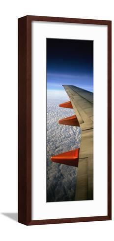 Aeroplane Wing Flying London to Glasgow-Design Pics Inc-Framed Art Print