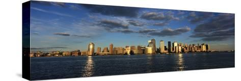 Lower Manhattan at Sunset, Viewed from Jersey City-Design Pics Inc-Stretched Canvas Print