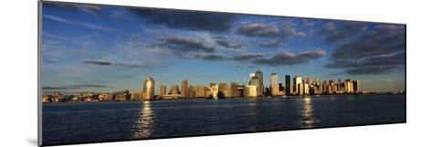 Lower Manhattan at Sunset, Viewed from Jersey City-Design Pics Inc-Mounted Photographic Print