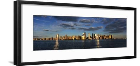 Lower Manhattan at Sunset, Viewed from Jersey City-Design Pics Inc-Framed Art Print
