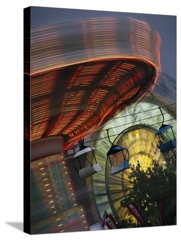 Midway Rides; Calgary, Alberta, Canada-Design Pics Inc-Stretched Canvas Print