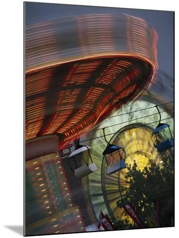 Midway Rides; Calgary, Alberta, Canada-Design Pics Inc-Mounted Photographic Print