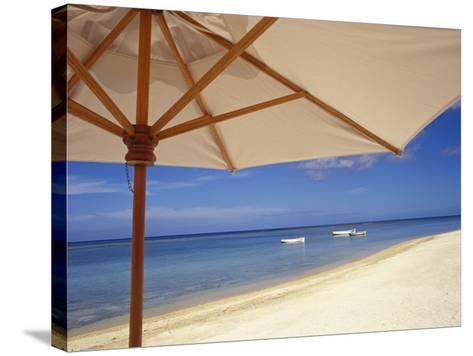 Umbrella and Tropical Beach, Close Up-Design Pics Inc-Stretched Canvas Print