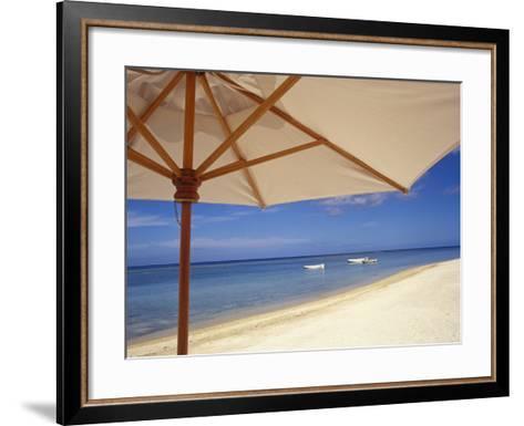 Umbrella and Tropical Beach, Close Up-Design Pics Inc-Framed Art Print