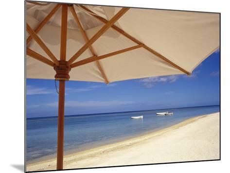 Umbrella and Tropical Beach, Close Up-Design Pics Inc-Mounted Photographic Print