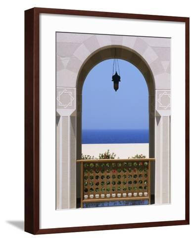 View Through Archway to Beach and Sea-Design Pics Inc-Framed Art Print