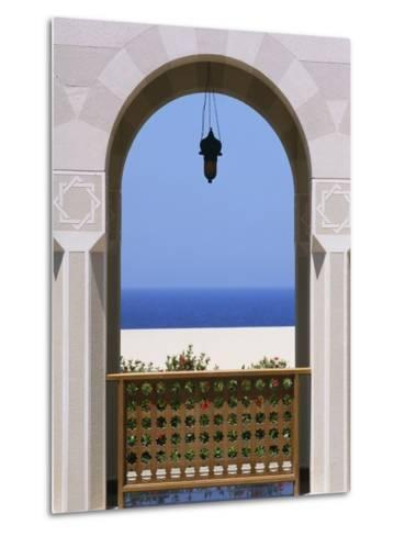 View Through Archway to Beach and Sea-Design Pics Inc-Metal Print