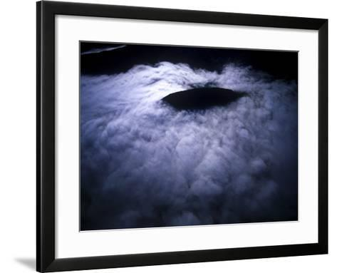 Aerial Photo of Fog-Covered Mountain in Cederberg Wilderness Area, South Africa-Keith Ladzinski-Framed Art Print