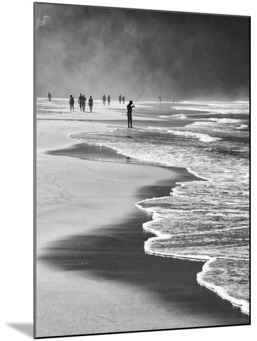 A Local Fisherman Fishing on Itamambuca Beach, Ubatuba, Brazil-Alex Saberi-Mounted Photographic Print