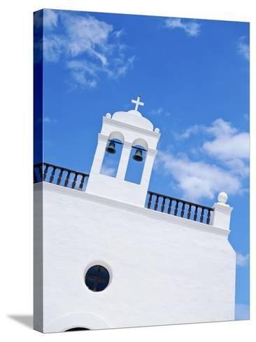 Whitewashed Church with Bell Tower-Design Pics Inc-Stretched Canvas Print