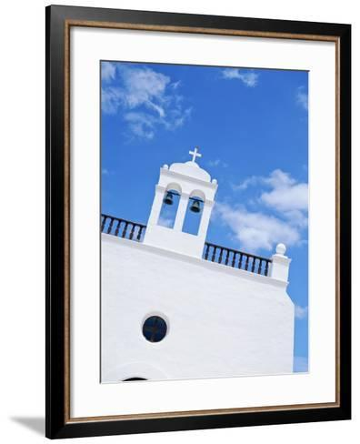 Whitewashed Church with Bell Tower-Design Pics Inc-Framed Art Print