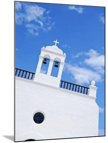Whitewashed Church with Bell Tower-Design Pics Inc-Mounted Photographic Print
