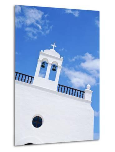 Whitewashed Church with Bell Tower-Design Pics Inc-Metal Print