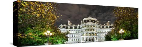 View of the Eisenhower Executive Office Building at Night-Babak Tafreshi-Stretched Canvas Print