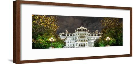 View of the Eisenhower Executive Office Building at Night-Babak Tafreshi-Framed Art Print
