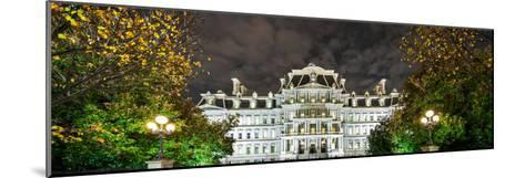 View of the Eisenhower Executive Office Building at Night-Babak Tafreshi-Mounted Photographic Print