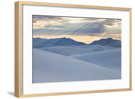White Dunes with Late Afternoon Sunlight in White Sands National Monument-Derek Von Briesen-Framed Art Print