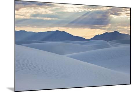 White Dunes with Late Afternoon Sunlight in White Sands National Monument-Derek Von Briesen-Mounted Photographic Print