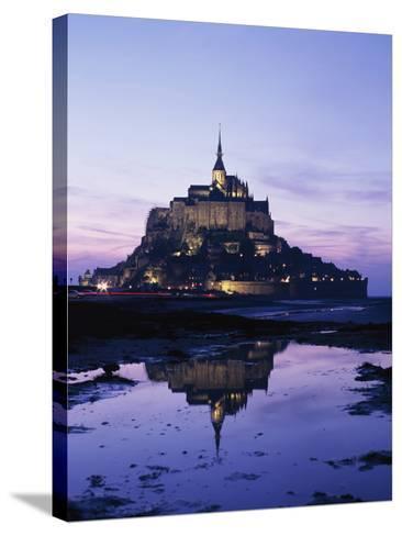 Mance Mont St Michel,Brittany,France-Design Pics Inc-Stretched Canvas Print