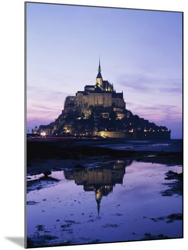 Mance Mont St Michel,Brittany,France-Design Pics Inc-Mounted Photographic Print