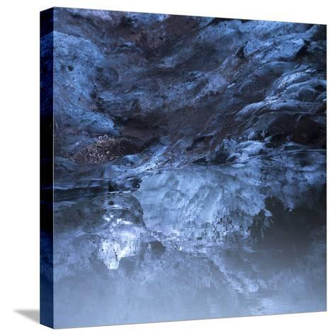 Photo of a Small Ice Cave Taken on Solheimajokull Glacier-Charles Kogod-Stretched Canvas Print